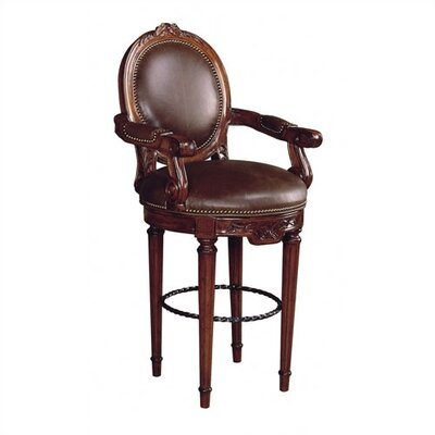 Dragonfly Tight Back Leather Swivel Bar Stool