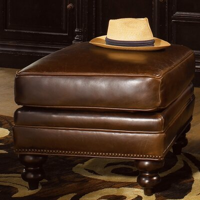 Tommy Bahama Home Warmick Leather Ottoman