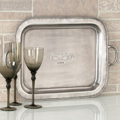 "Shiraleah Entertaining ""Celebrer La Vie"" Rectangular Serving Tray"