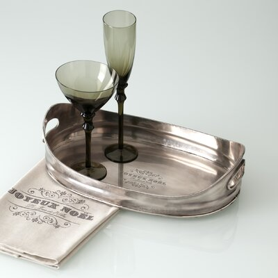 "Shiraleah Entertaining ""Joyeux"" Noel Oval Serving Tray"