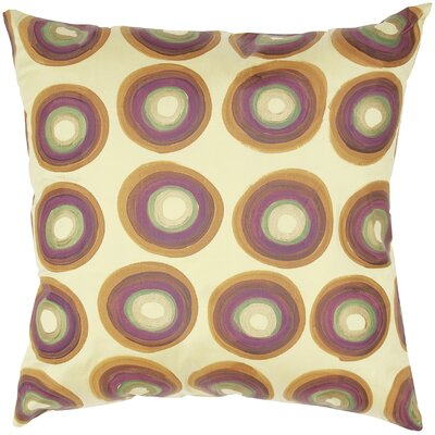 Dupioni Print Circle Design Silk Pillow