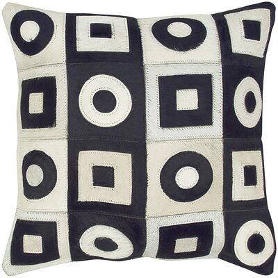 Square and Circle Leather Pillow