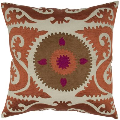India's Heritage Suzani Floral Embroidery Pillow