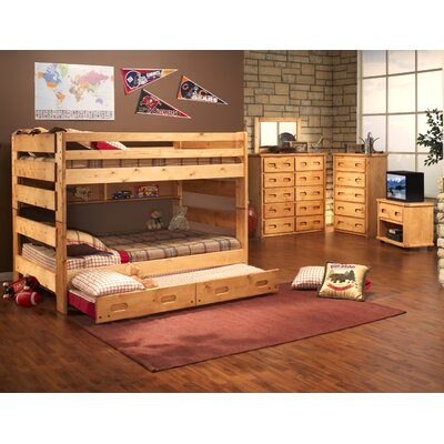 Full Over Full Standard Bunk Bed with Trundle Unit