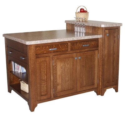 Bobby Kitchen Island with Granite Top Furniture | Wayfair