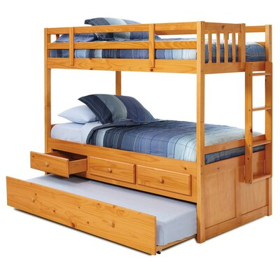 Twin Over Twin Bunk Bed With Trundle And Storage Wayfair