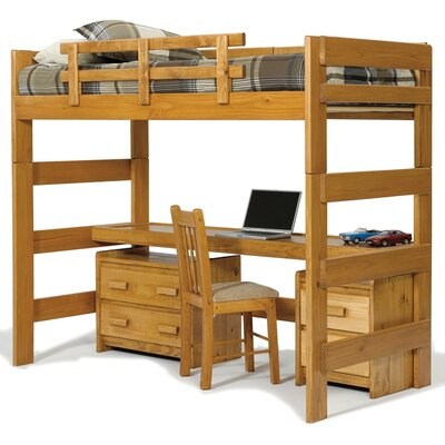 loft bed with desk top wayfair