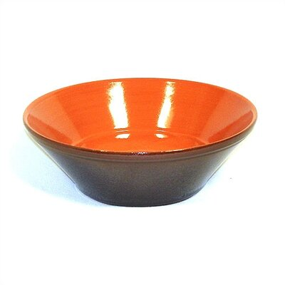 "Piral Terracotta 9.5"" V-Shaped Bowl"