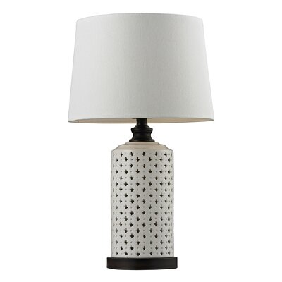 "HGTV Home Open Work 23"" H Ceramic Table Lamp"