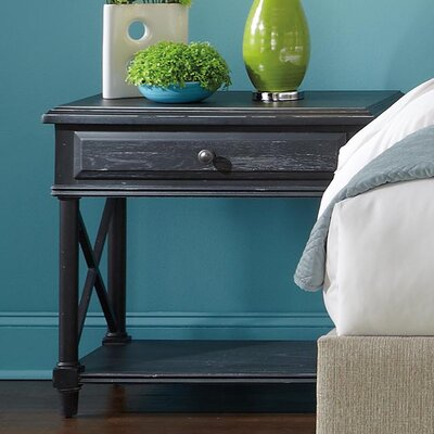 HGTV Home Caravan 1 Drawer Nightstand