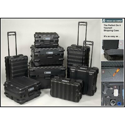 "Chicago Case Company ATA Style Foam-Filled, Reusable Indestructo Shipping Case 21"" H x 16.5"" W x 12"" D"