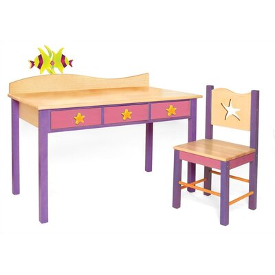 "Room Magic Tropical Seas 24"" W Writing Desk and Chair Set"