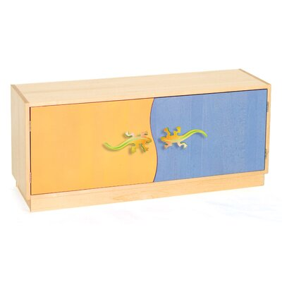 Room Magic Little Lizard Two Door Storage Unit in Chocolate