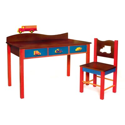 Room Magic Boys Like Trucks Kids' 2 Piece Table and Chair Set
