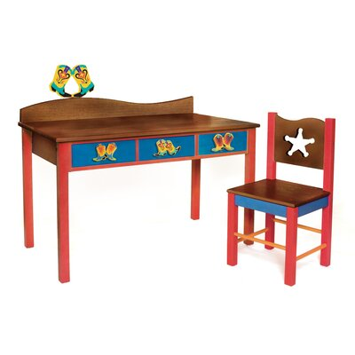 Room Magic Cowboy Kids' 2 Piece Table and Chair Set