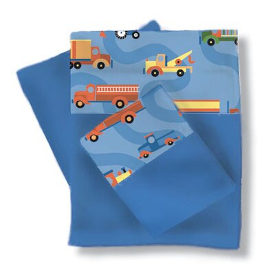 Room Magic Boys Like Trucks Sheets / Pillowcase Set