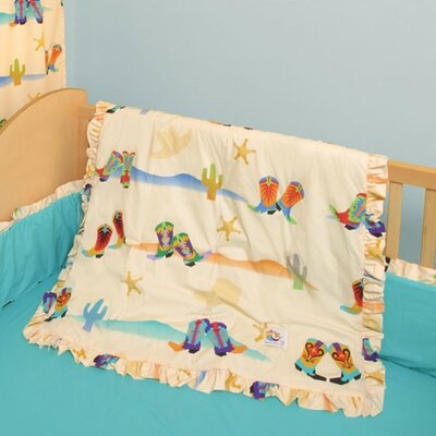 Room Magic Cowboy 4 Piece Crib Bedding Set
