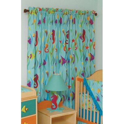 Room Magic Tropical Seas Cotton Rod Pocket Curtain Panel  (Set of 2)