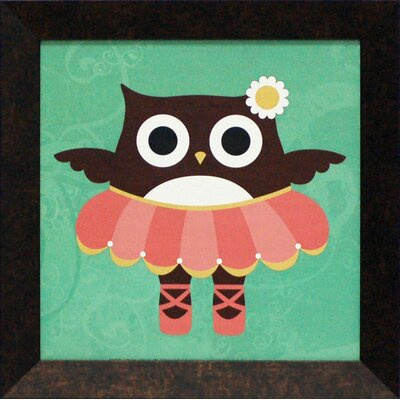 Ballerina Owl Framed Art
