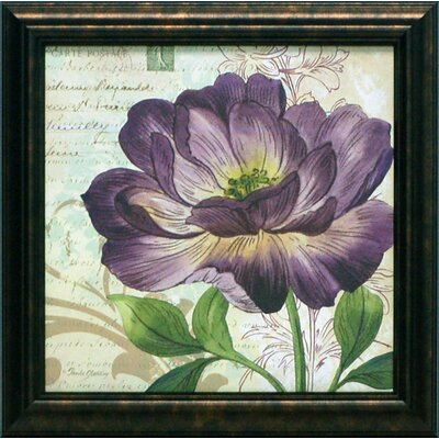 Study in Purple II Framed Art
