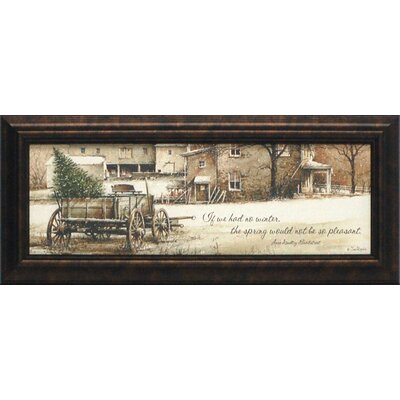 Winter Glittered Framed Art