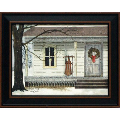 Winter Porch Framed Art