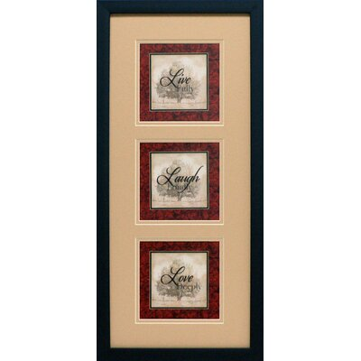 Artistic Reflections Live Laugh Love Triple Framed Art