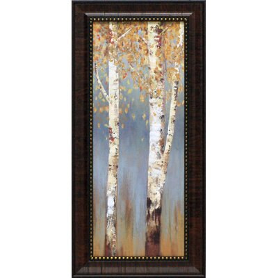 Butterscotch Birch Trees II Framed Art
