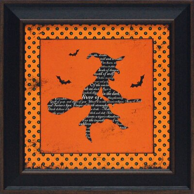 Halloween Witch Framed Art