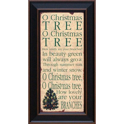 O Christmas Tree Framed Textual Art