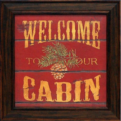 Welcome to Our Cabin Framed Art