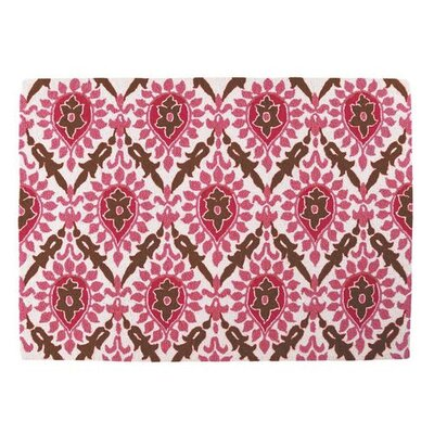 Sis Boom by Jennifer Paganelli Back Bay Pink and Brown Hook Rug