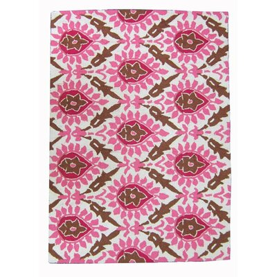 <strong>Sis Boom by Jennifer Paganelli</strong> Back Bay Pink and Brown Hook Rug