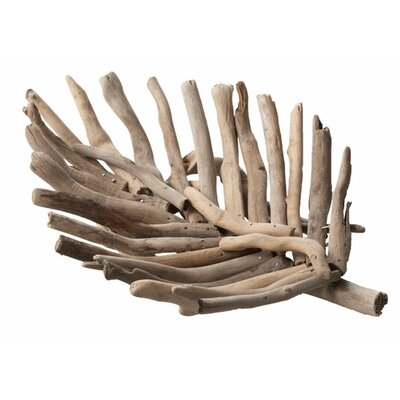 Lazy Susan USA Driftwood Leaf Serving Tray