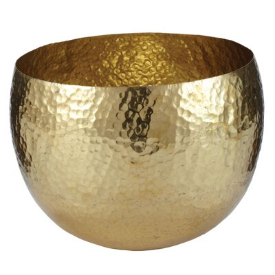 Lazy Susan Hammered Brass Bowl