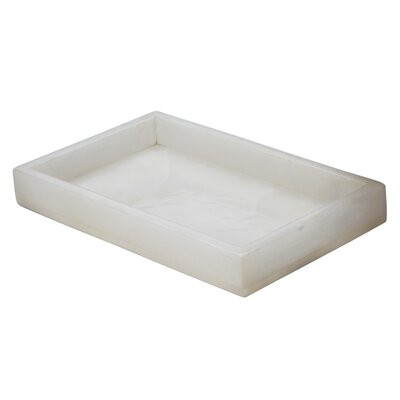 Lazy Susan Alabaster Vanity Rectangular Serving Tray