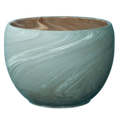 Lazy Susan USA Swirled Clay Pot