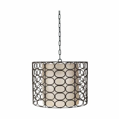 Weathered Drum Oval Ring Lamp