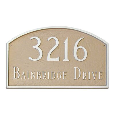 Montague Metal Products Inc. Prestige Arch Large Address Plaque