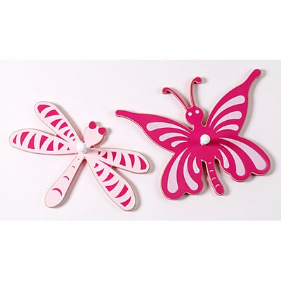 Butterfly and Dragonfly Peg (Set of 2)