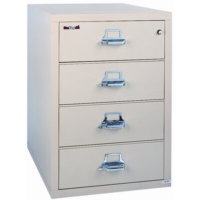 "Fire King 31"" W Three-Drawer Lateral File"