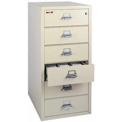 FireKing 6-Drawer Card, Check and Note File