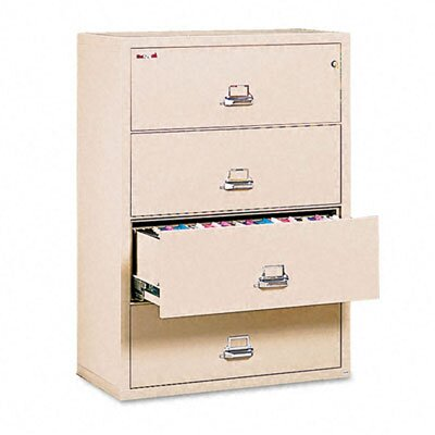 "Fire King 4-Drawer Lateral File, 31.13"" W X 22.13"" D, Ul Listed 350, Letter/Legal"