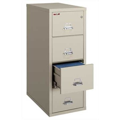 Fire King Four-Drawer Vertical Legal File