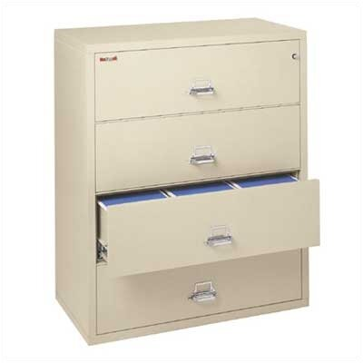 Fire King 44&quot; W Four-Drawer Lateral File