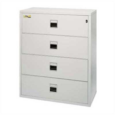 "Fire King 37 1/2"" W Four-Drawer Lateral Signature File"