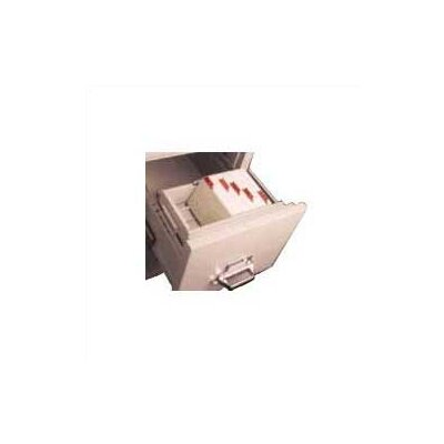 "FireKing Legal Size Vertical and Lateral File Cross Tray for 4"" H x 6"" W Cards"