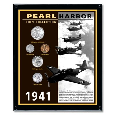 American Coin Treasures Pearl Harbor Coin Wall Frame