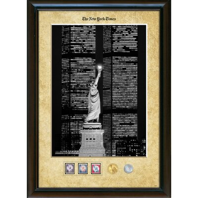 American Coin Treasures New York Times Liberty and the World Trade Center Wall Frame
