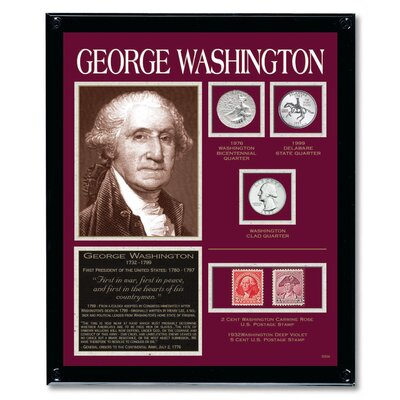 Washington Tribute Coin Wall Frame